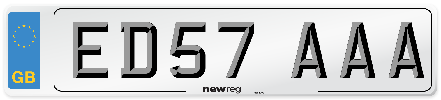 ED57 AAA Number Plate from New Reg