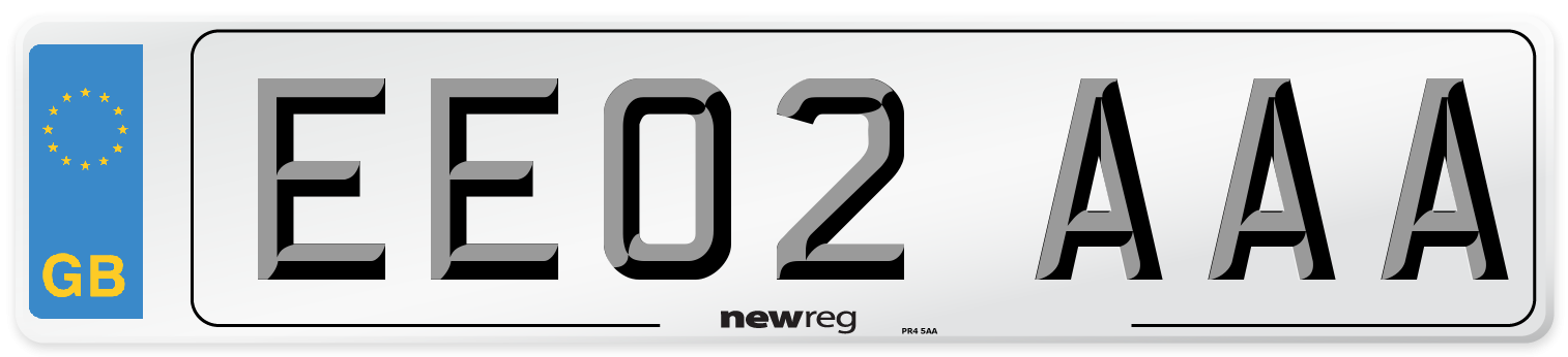 EE02 AAA Number Plate from New Reg