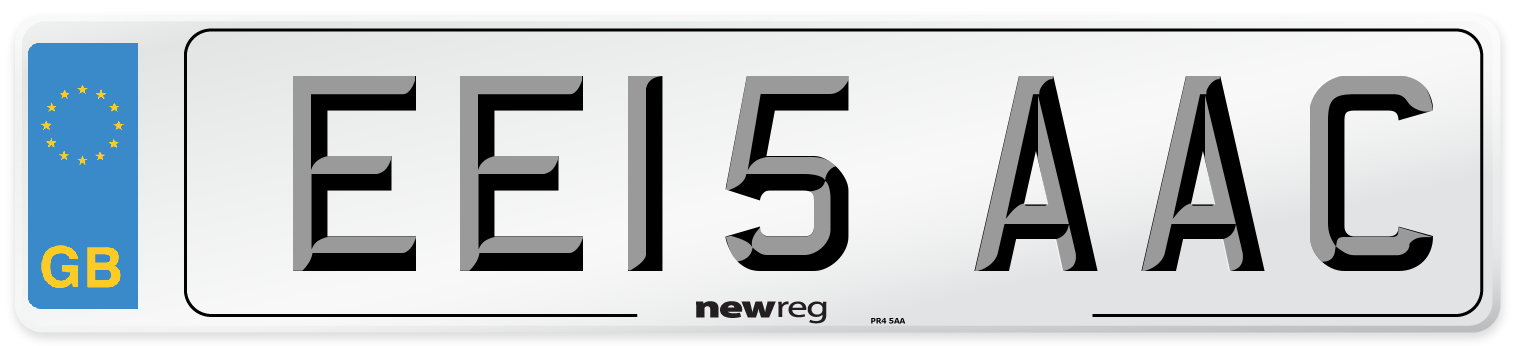 EE15 AAC Number Plate from New Reg