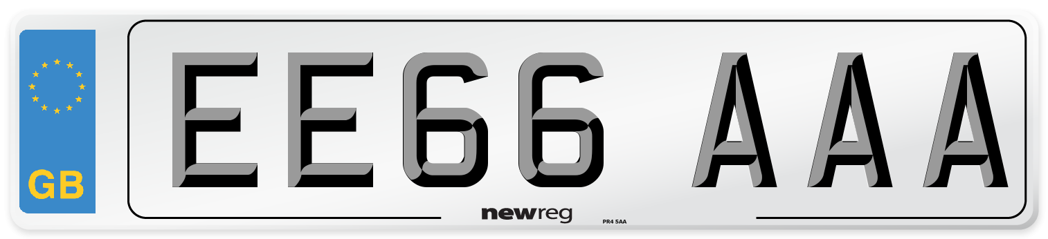 EE66 AAA Number Plate from New Reg
