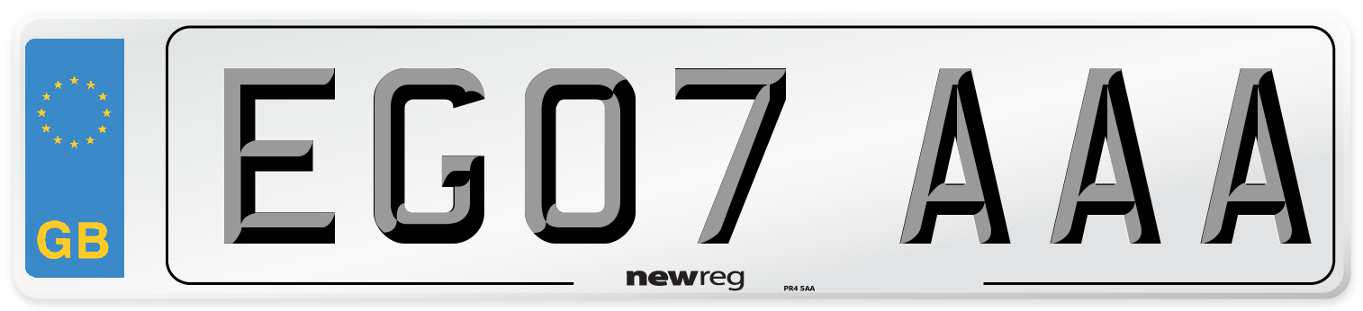 EG07 AAA Number Plate from New Reg