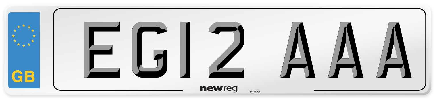 EG12 AAA Number Plate from New Reg