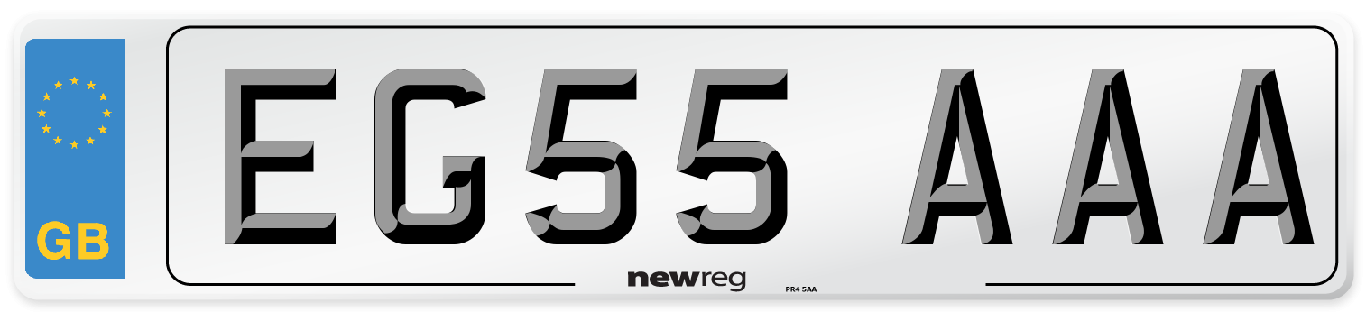 EG55 AAA Number Plate from New Reg