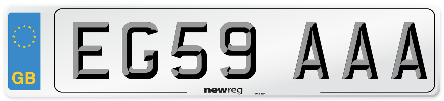 EG59 AAA Number Plate from New Reg