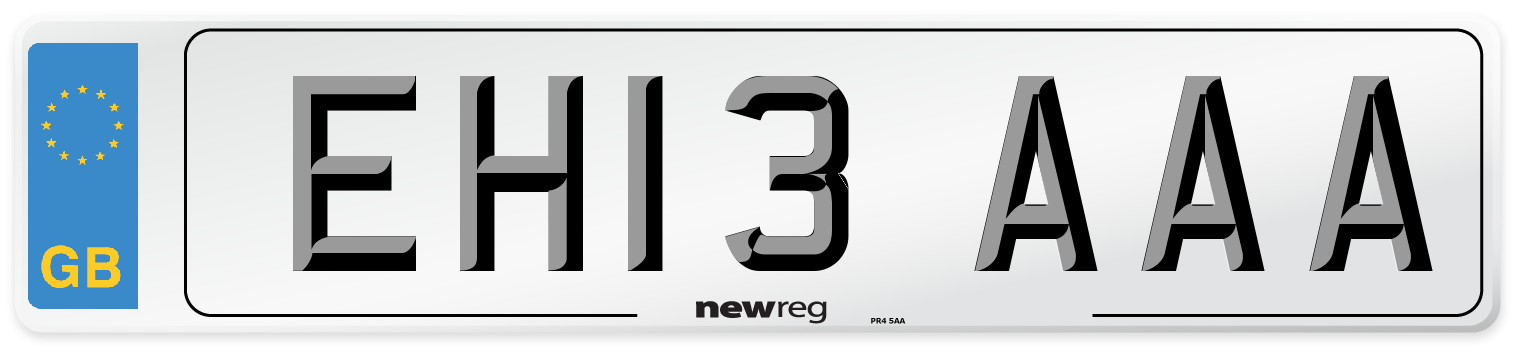 EH13 AAA Number Plate from New Reg