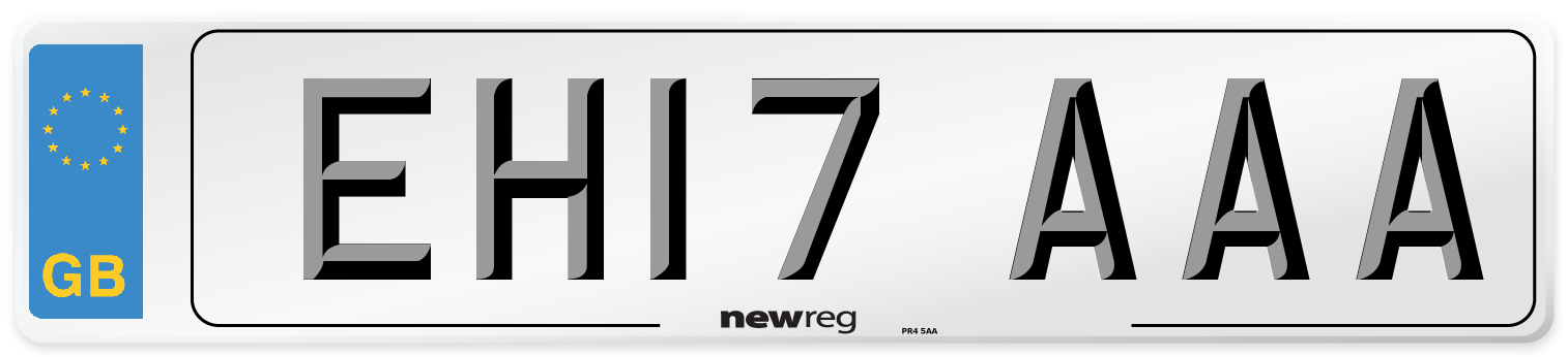 EH17 AAA Number Plate from New Reg