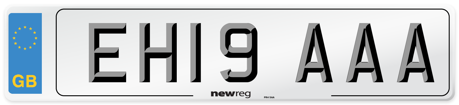 EH19 AAA Number Plate from New Reg