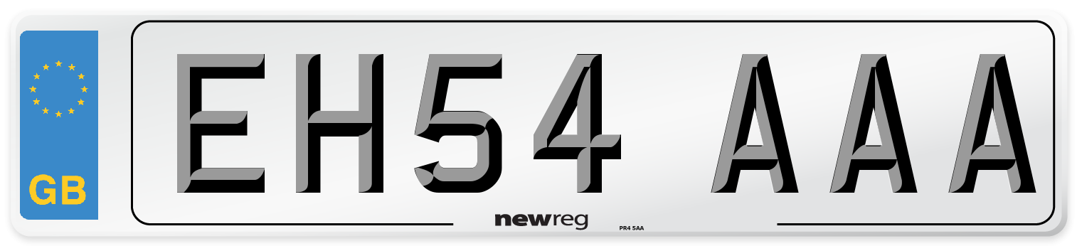 EH54 AAA Number Plate from New Reg