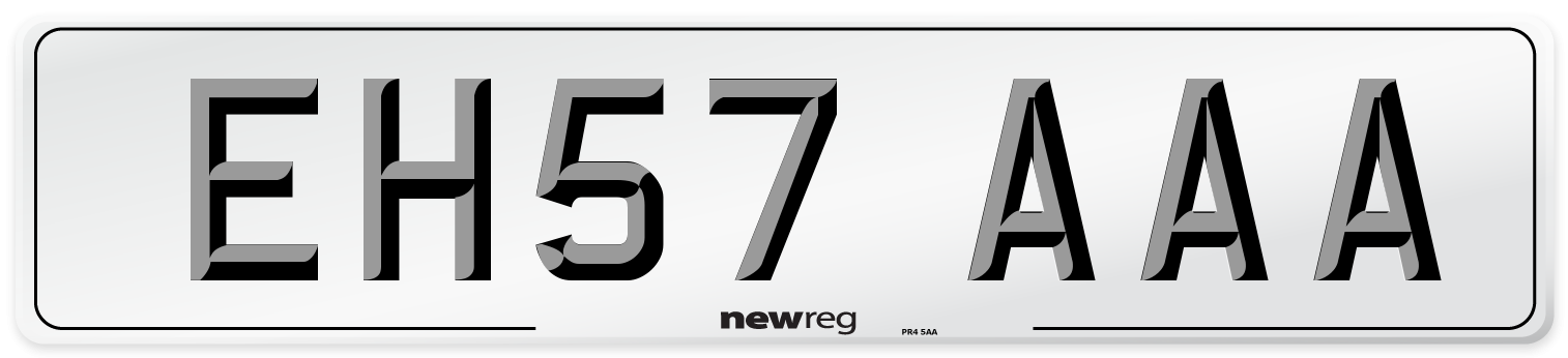 EH57 AAA Number Plate from New Reg