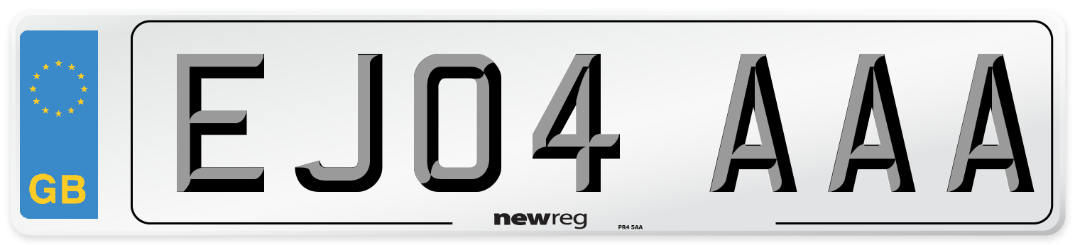 EJ04 AAA Number Plate from New Reg