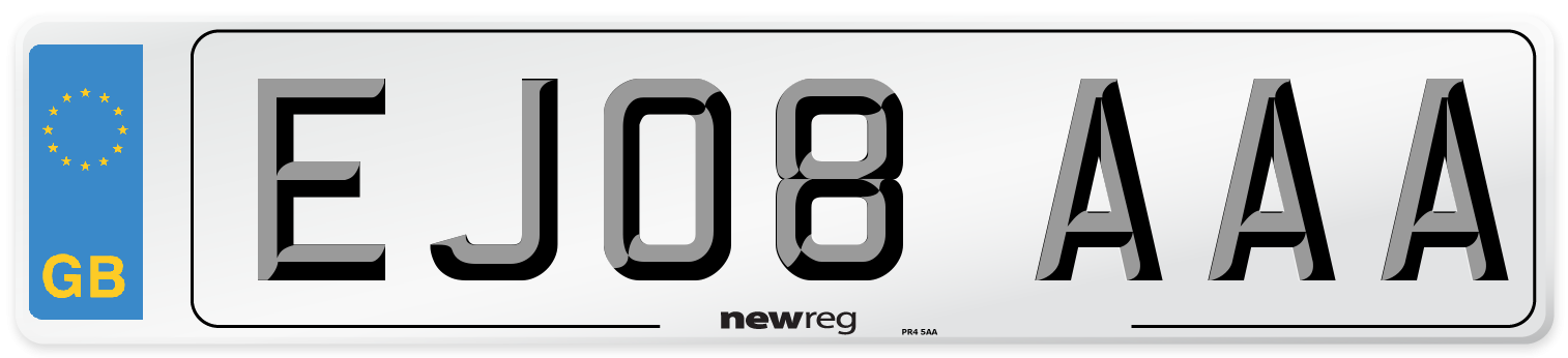 EJ08 AAA Number Plate from New Reg
