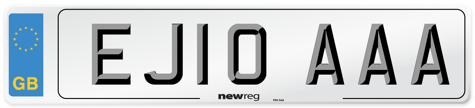 EJ10 AAA Number Plate from New Reg