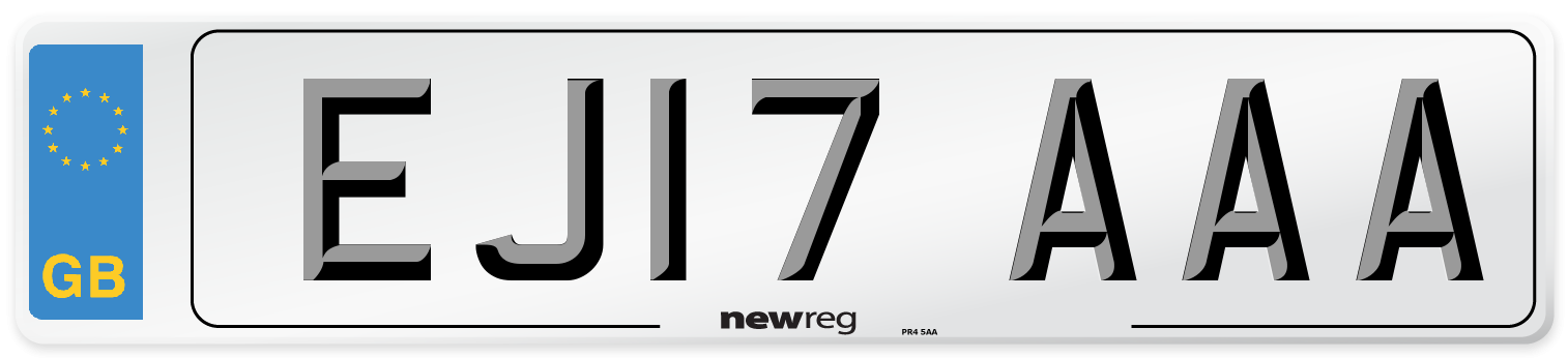 EJ17 AAA Number Plate from New Reg