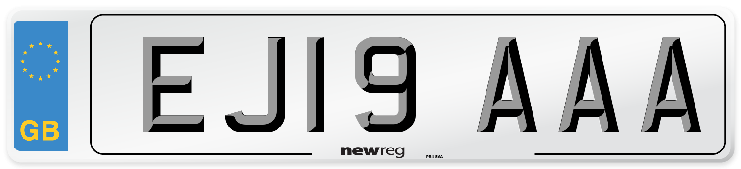 EJ19 AAA Number Plate from New Reg