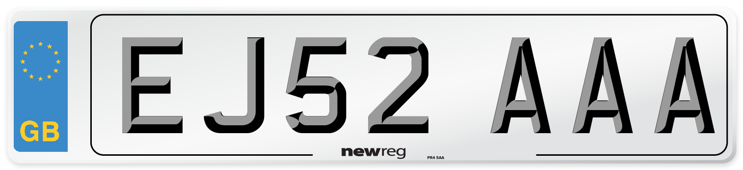 EJ52 AAA Number Plate from New Reg