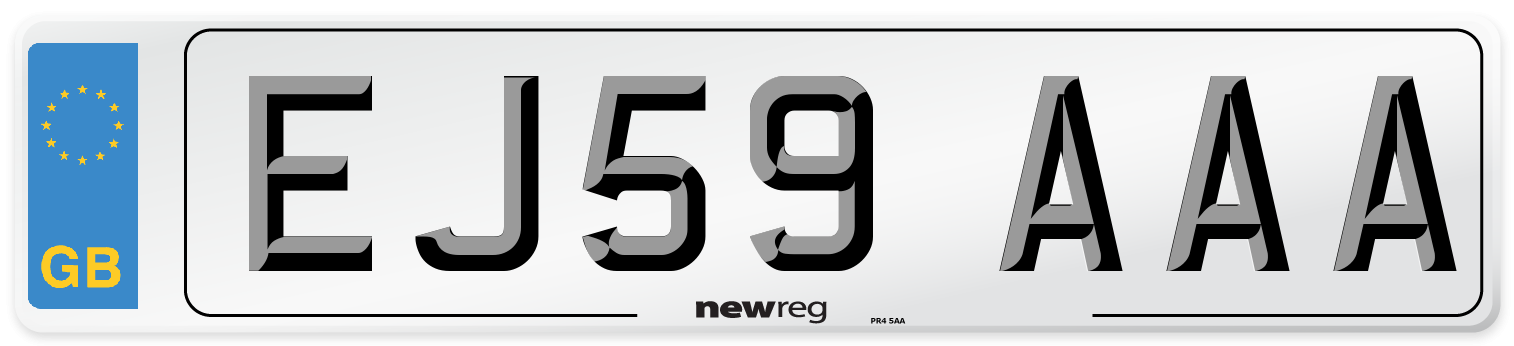 EJ59 AAA Number Plate from New Reg