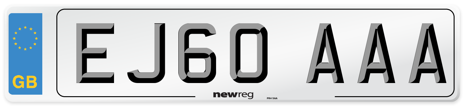 EJ60 AAA Number Plate from New Reg