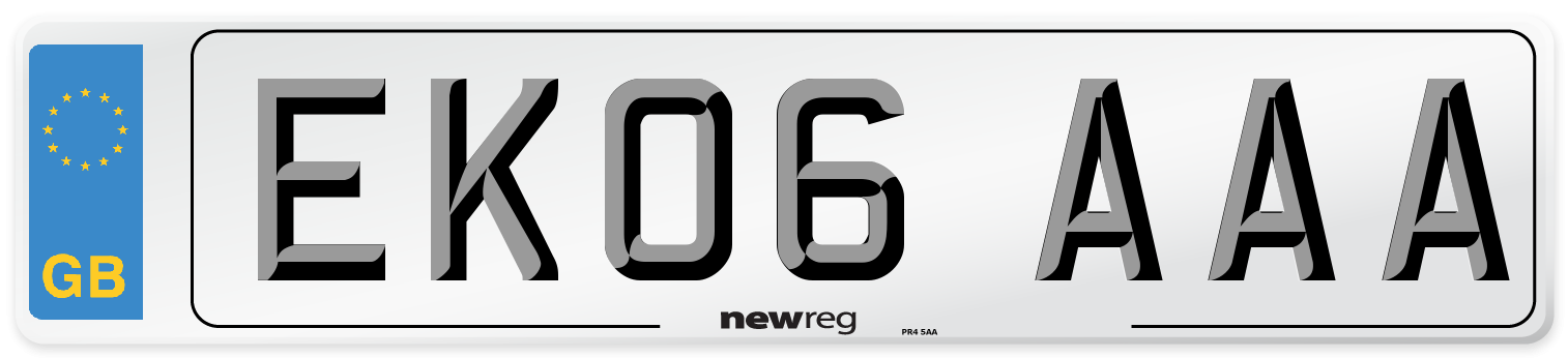 EK06 AAA Number Plate from New Reg