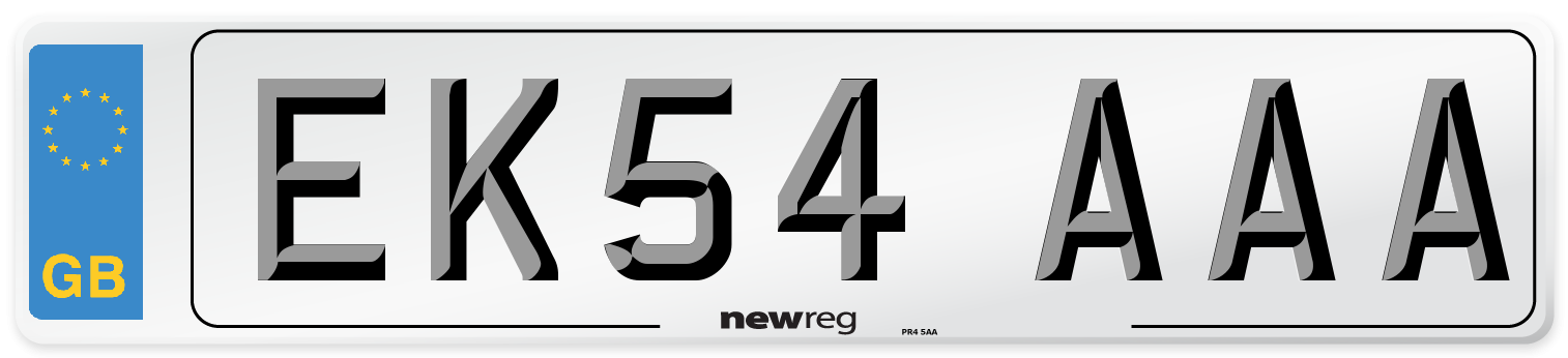 EK54 AAA Number Plate from New Reg