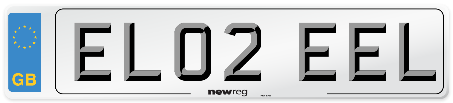 EL02 EEL Number Plate from New Reg