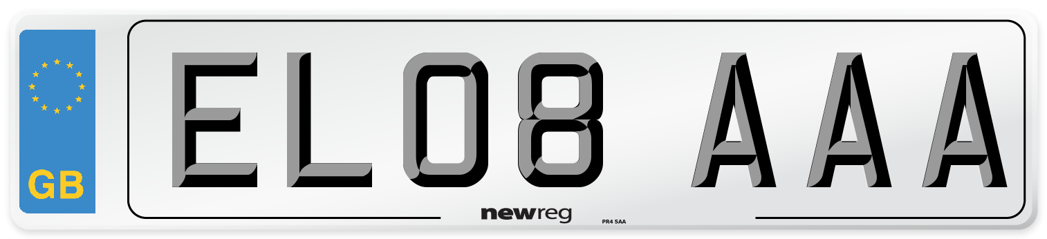 EL08 AAA Number Plate from New Reg
