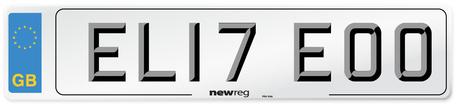 EL17 EOO Number Plate from New Reg
