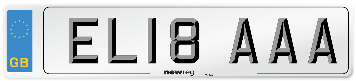 EL18 AAA Number Plate from New Reg