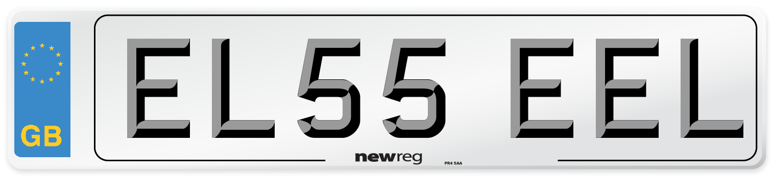 EL55 EEL Number Plate from New Reg