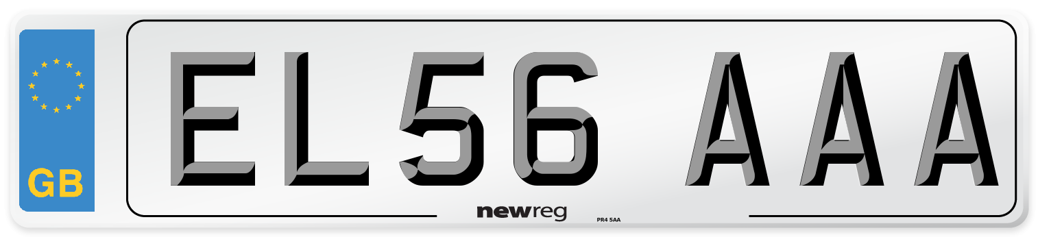 EL56 AAA Number Plate from New Reg