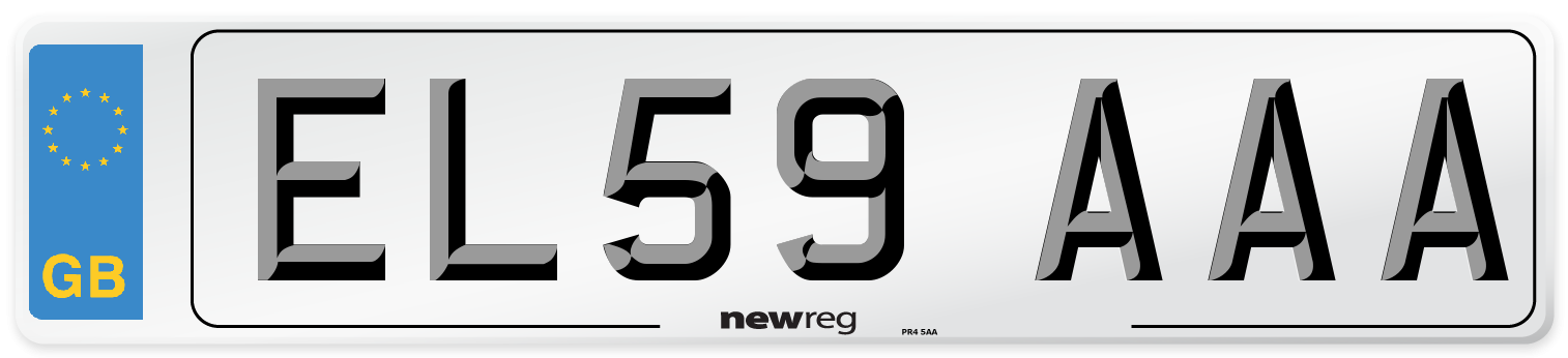 EL59 AAA Number Plate from New Reg