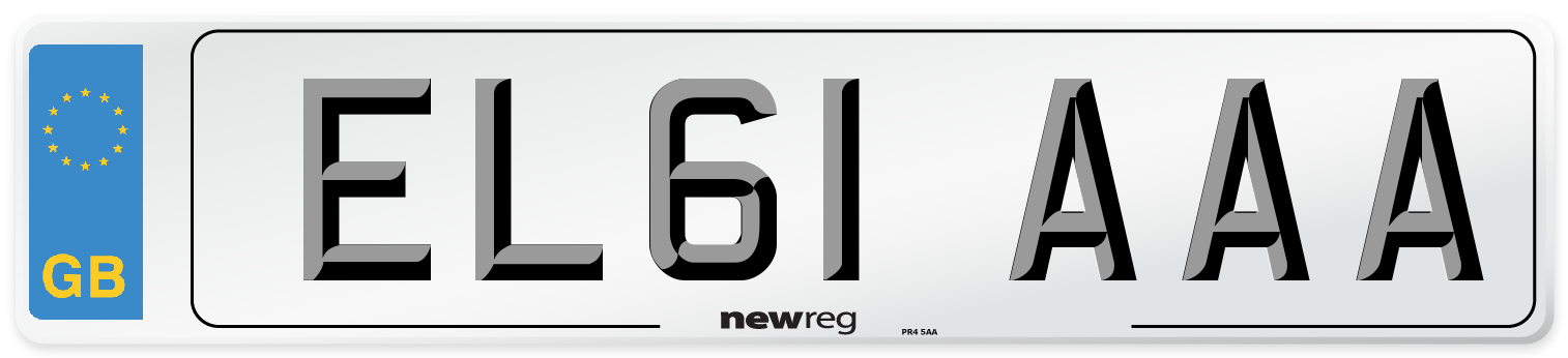 EL61 AAA Number Plate from New Reg