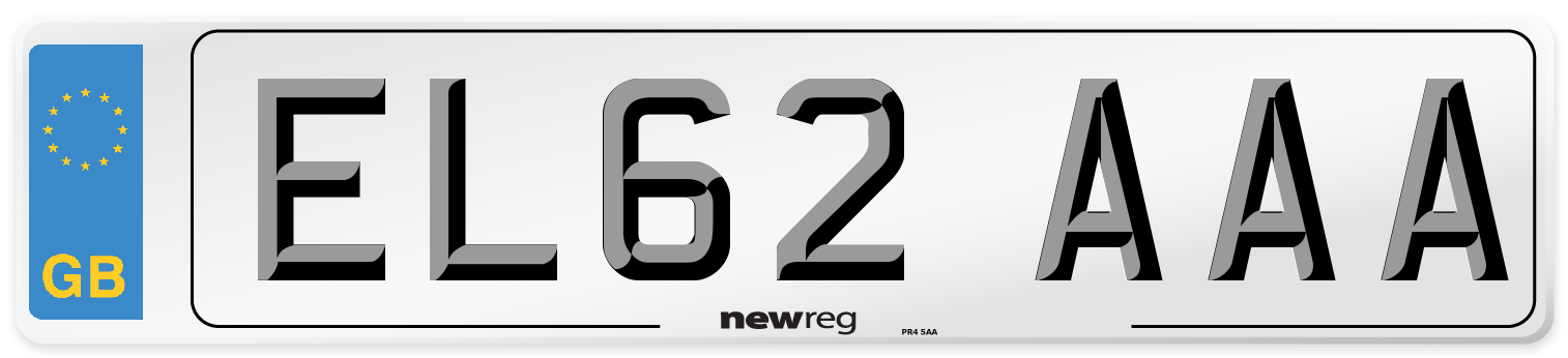 EL62 AAA Number Plate from New Reg