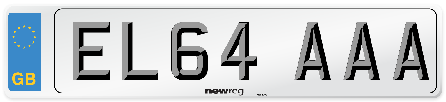 EL64 AAA Number Plate from New Reg