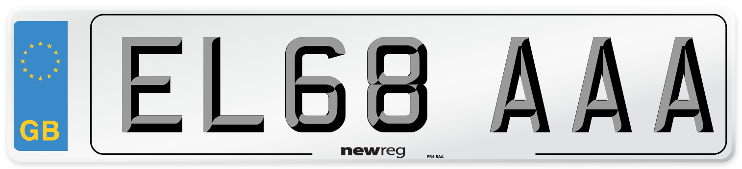 EL68 AAA Number Plate from New Reg