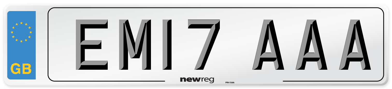 EM17 AAA Number Plate from New Reg