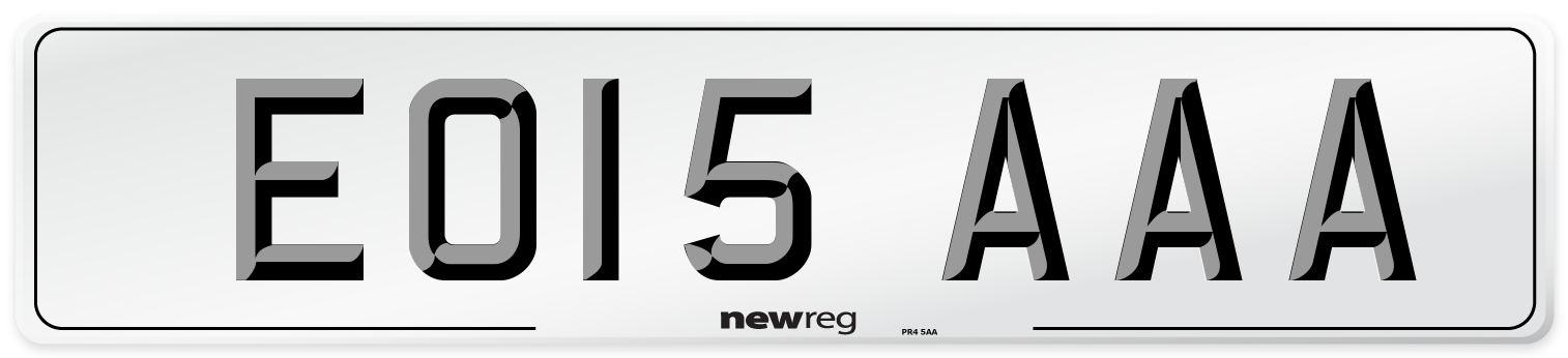 EO15 AAA Number Plate from New Reg