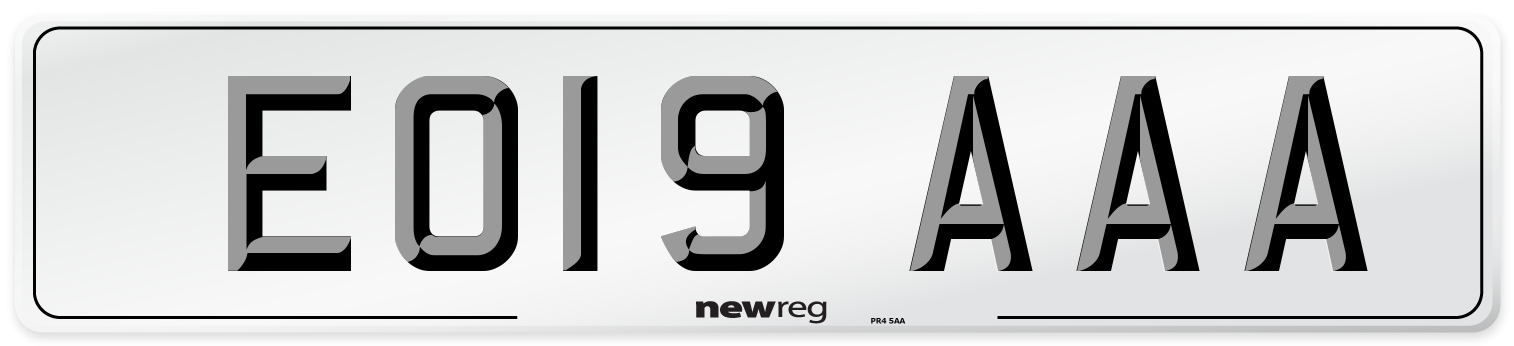 EO19 AAA Number Plate from New Reg