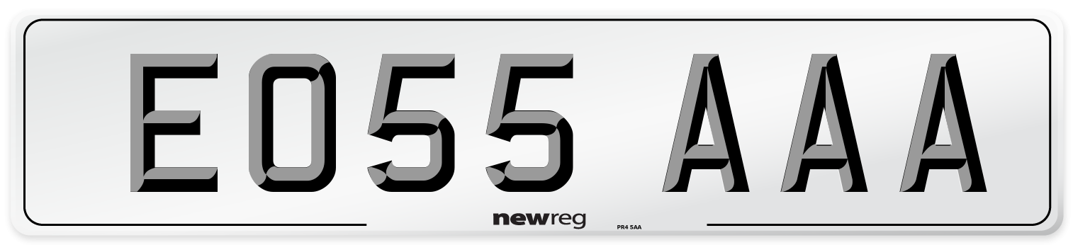 EO55 AAA Number Plate from New Reg