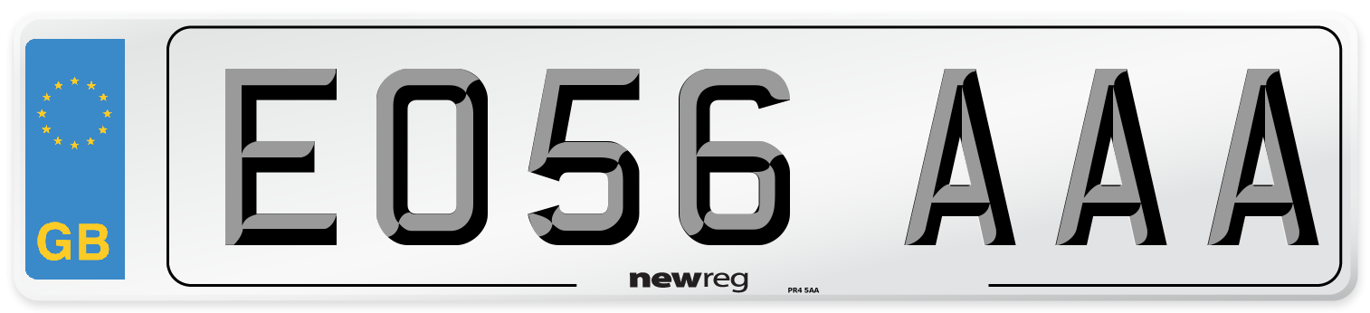 EO56 AAA Number Plate from New Reg