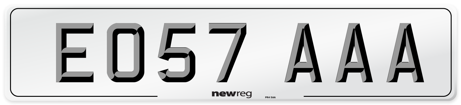 EO57 AAA Number Plate from New Reg