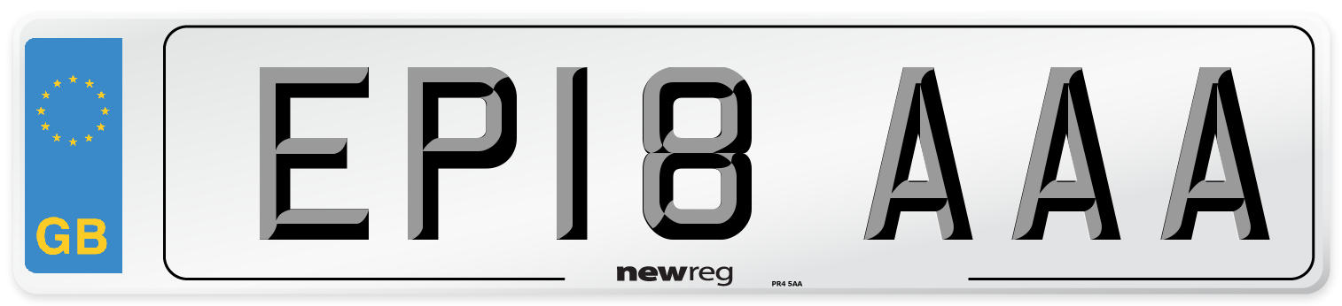 EP18 AAA Number Plate from New Reg