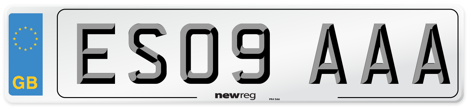ES09 AAA Number Plate from New Reg