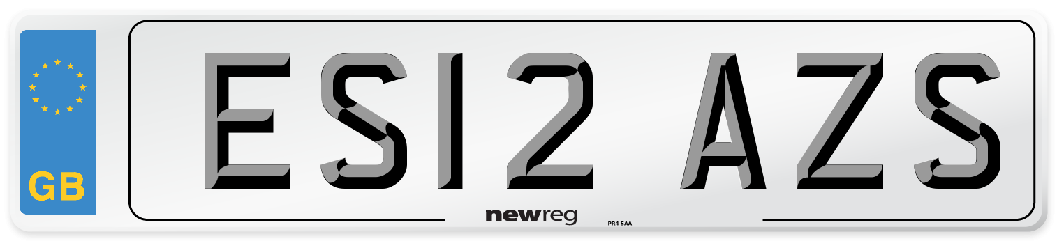 ES12 AZS Number Plate from New Reg