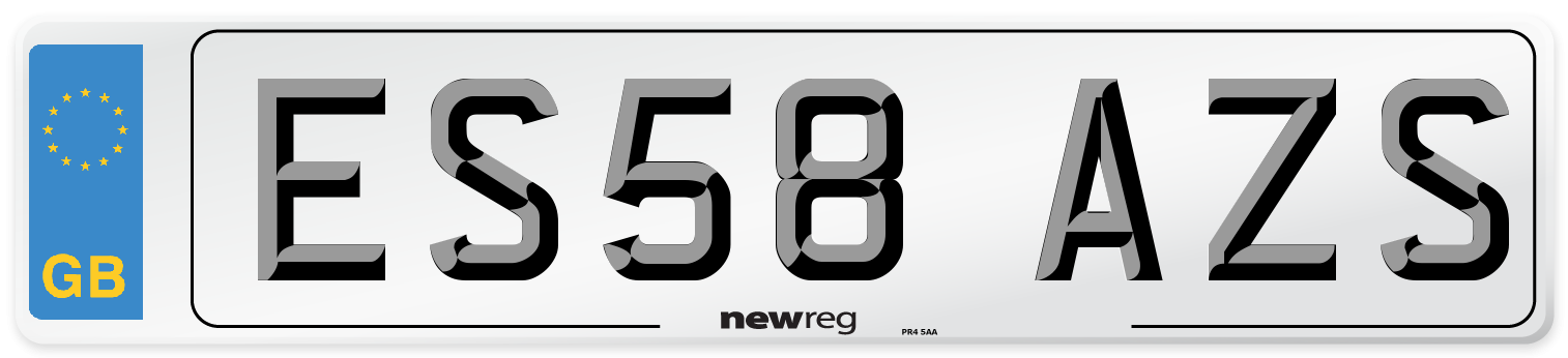 ES58 AZS Number Plate from New Reg