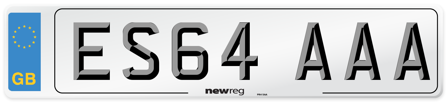 ES64 AAA Number Plate from New Reg