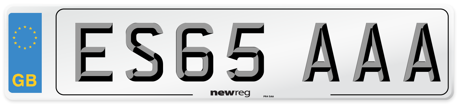 ES65 AAA Number Plate from New Reg