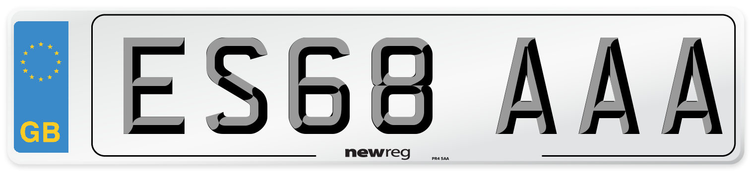 ES68 AAA Number Plate from New Reg