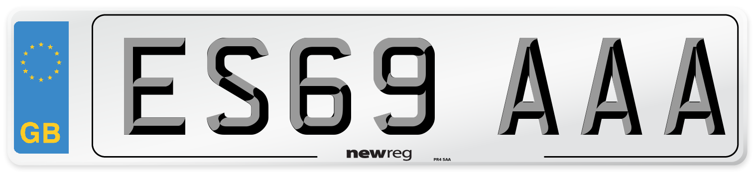 ES69 AAA Number Plate from New Reg