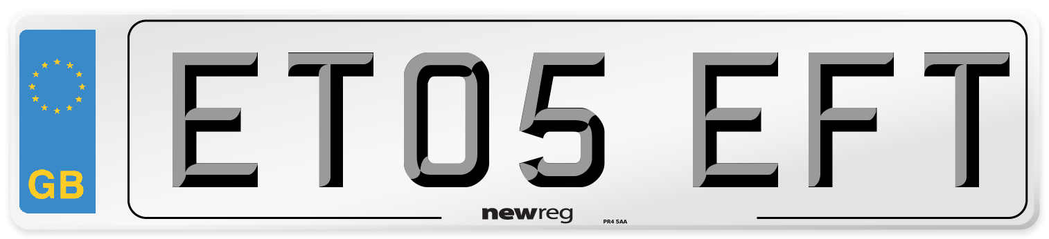 ET05 EFT Number Plate from New Reg