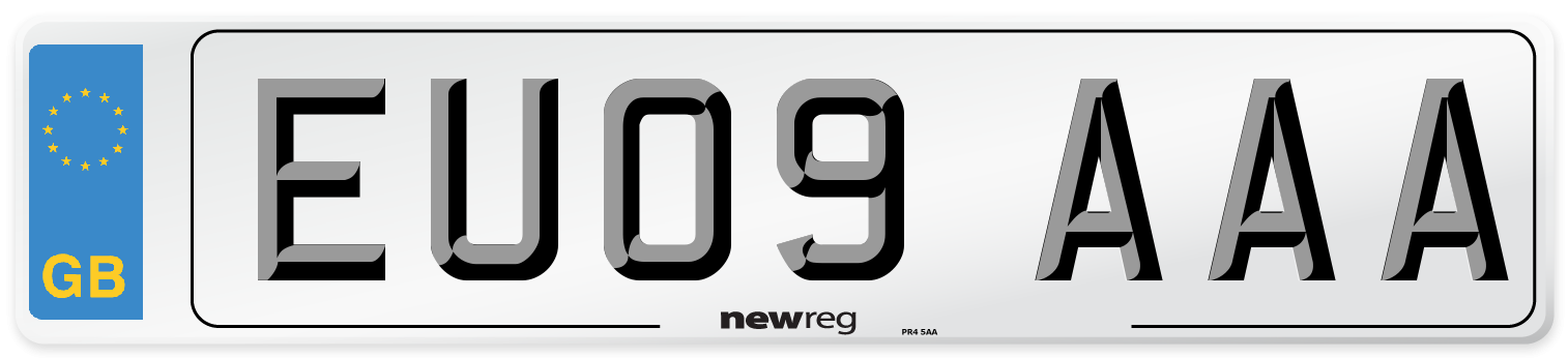 EU09 AAA Number Plate from New Reg